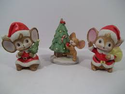 Homco Home Interiors Lot Of 3 Vintage Homco Home Interior Mice Figurines
