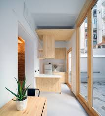 Kitchen Of Light Small Apartment In Barcelona Serves As A Relaxing Second Home