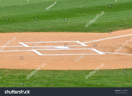 home plate batters baseball field stock photo 12228880