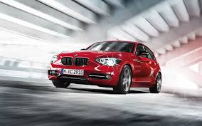 2013 bmw 1 series hatchback red car wallpaper front side view