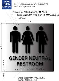 gender neutral 3 symbols restroom signs adasigndepot com