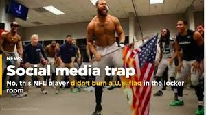 Is There A Law Against Burning The American Flag No This Nfl Player Didn U0027t Burn A U S Flag In The Locker Room Video