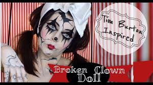broken doll halloween costume broken doll makeup tutorial clown doll makeup halloween costume