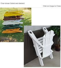 outdoor poly furniture amish polycraft 881e folding adirondack