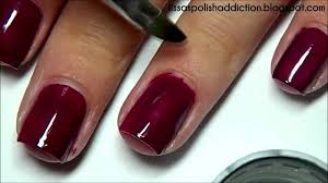 how i paint my nails cuticle clean up youtube