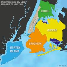 Brooklyn Ny Map Die Fünf Stadtteile Von New York Schmelztiegel Der Kulturen