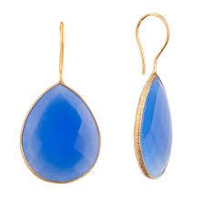 blue drop earrings onna ehrlich gemstone teardrop earrings