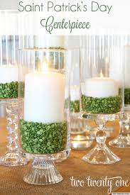 Centerpiece Ideas St Patrick U0027s Day Ideas Make A Candle Centerpiece With Green