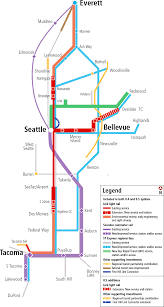 Light Rail Map Seattle Sound Transit Map Adriftskateshop