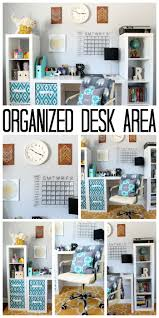 Desk Organized by Organized Desk Area For A Teen Room The Country Chic Cottage