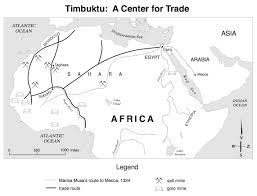 Blank Northern Africa Map by Trans Saharan Trade Map Timbuktu Map Jpg 1 141 868 Pixels