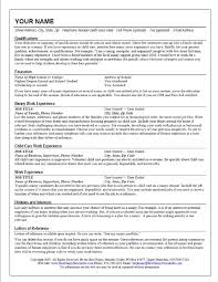 Resume Sample No College Degree by Nanny Resume Template Resume For Your Job Application