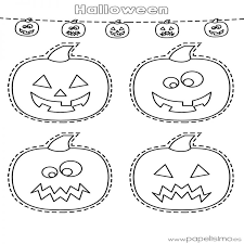 imagenes de halloween para imprimir y colorear dibujos de calabazas de halloween para recortar papelisimo