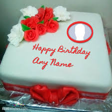 red velvet birthday cake with name
