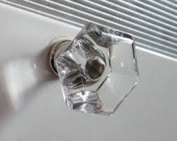 Clear Cabinet Knobs Hexagon Knobs Etsy