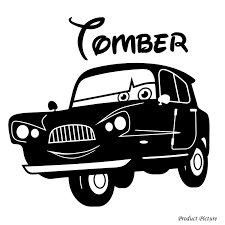 tomber cars disney personalized vinyl sticker