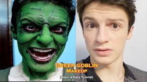 easy halloween makeup tutorial for beginners green goblin makeup tutorial basic u0026 easy youtube