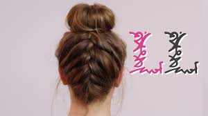 plait at back of head hairstyle how to back french plait with bun youtube