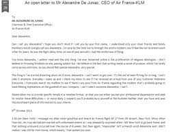 trending an open letter to ceo of air france indiatimes com