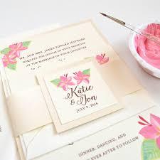 hand painted floral wedding invitations mospens studio