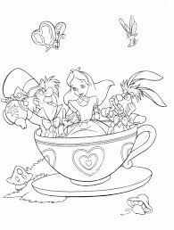 Alice In Wonderland Coloring Drawing Coloring Katella S Disney World Coloring Pages