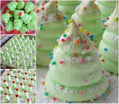 christmas tree meringues recipe beesdiy com