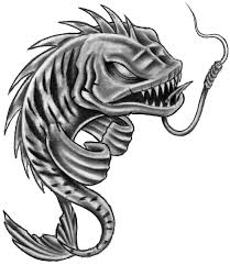 fish skeleton pisces tattoos stencil photo 1 draw