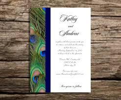 peacock invitations wedding invitation ideas attractive peacock wedding invitations