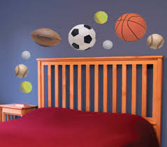 Sports Decals For Kids Rooms by Sports Star Wall Decals Football Basketball Soccer Ball