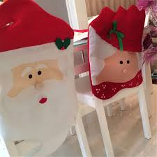 1pc lovely mr u0026 mrs santa claus christmas dining room chair cover