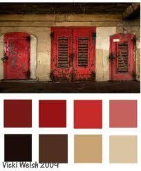 red color schemes for living rooms color palette 1027 sepia color red apple and wardrobes