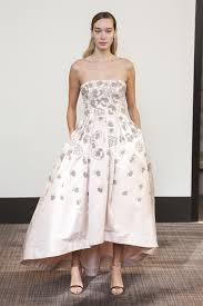 blush wedding dress trend gracy accad fall 2018 bridal week will give you all the grace