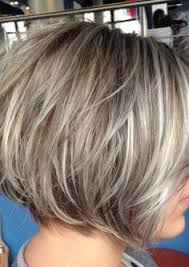 fine graycoming in of short bob hairstyles for 70 yr old image result for transition to grey hair with highlights