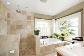 modern master bathroom with master bathroom u0026 stone tile in