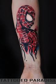 collection of 25 spiderman tattoo
