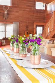 Copper Flower Vase Copper Bottom Mason Jar Flower Vase Creative Cain Cabin