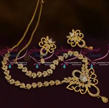 gold stones necklace designs images Nl9652 thin simple design cz short necklace full white stones gold JPG