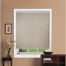 interior design white window with bali blinds on cream wall for