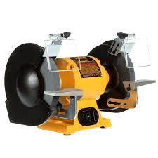 dewalt 205mm bench grinder yellow 8