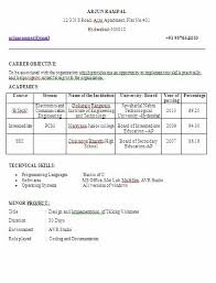 resume format for freshers engineers eceti electronics and communication engineering ece fresher final year