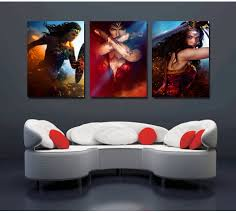 printed picture modular painting modern wall art 3 panel movie