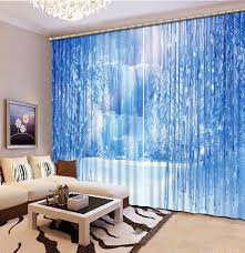 Teal Living Room Curtains Custom 3d Curtain Iceberg Elegant Living Room Curtains Luxury