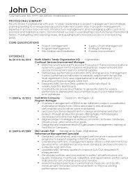 Program Manager Sample Resume by John Doe Resume Resume For Your Job Application