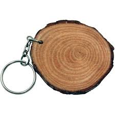 wooden key chain promotional log ring wood key chain customized