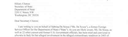 cover letter for cia ex cia officer facing imprisonment says hillary clinton is