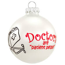doctors christmas glass ornament occupations christmas