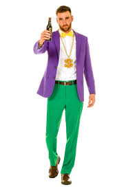 men s mardi gras costumes all of the colors of bourbon men s purple yellow and green