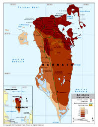 map of bahrain population density map of bahrain by bestcountryreports com
