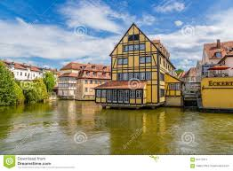 bamberg germany map bamberg germany buildings on the river pegnitz editorial