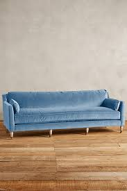 Emerald Green Velvet Sofa by Pantone Niagara Blue Velvet Sofa Dusty Blue And French Blue